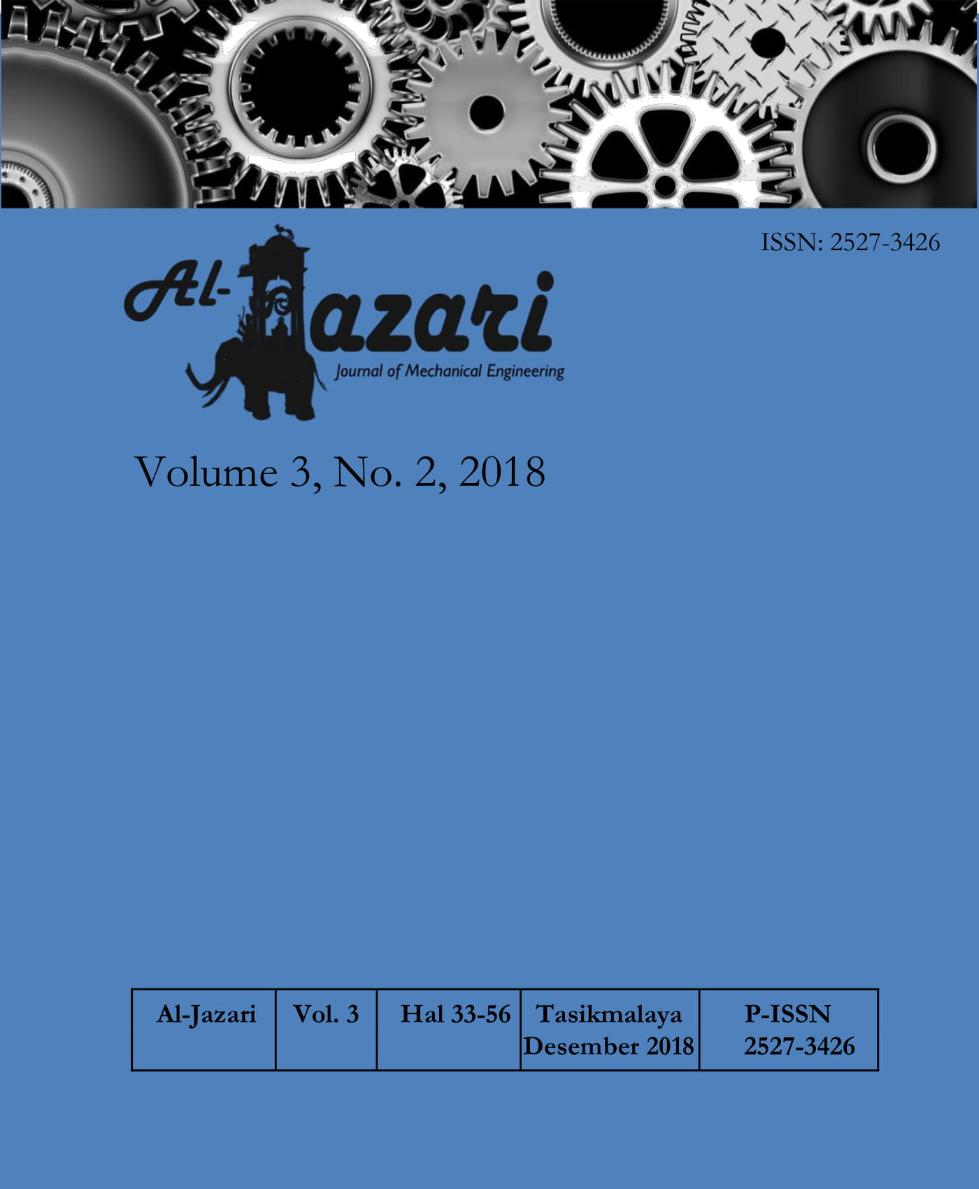 View Vol. 3 No. 2 (2018): Al-Jazari: Journal of Mechanical Engineering