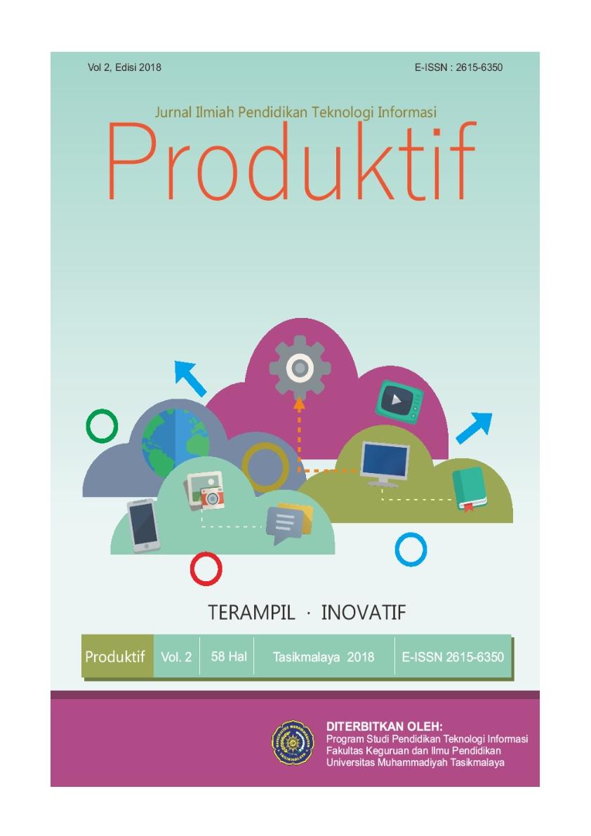 Produktif Jurnal Ilmiah Pendidikan Teknologi Informasi Rmasi