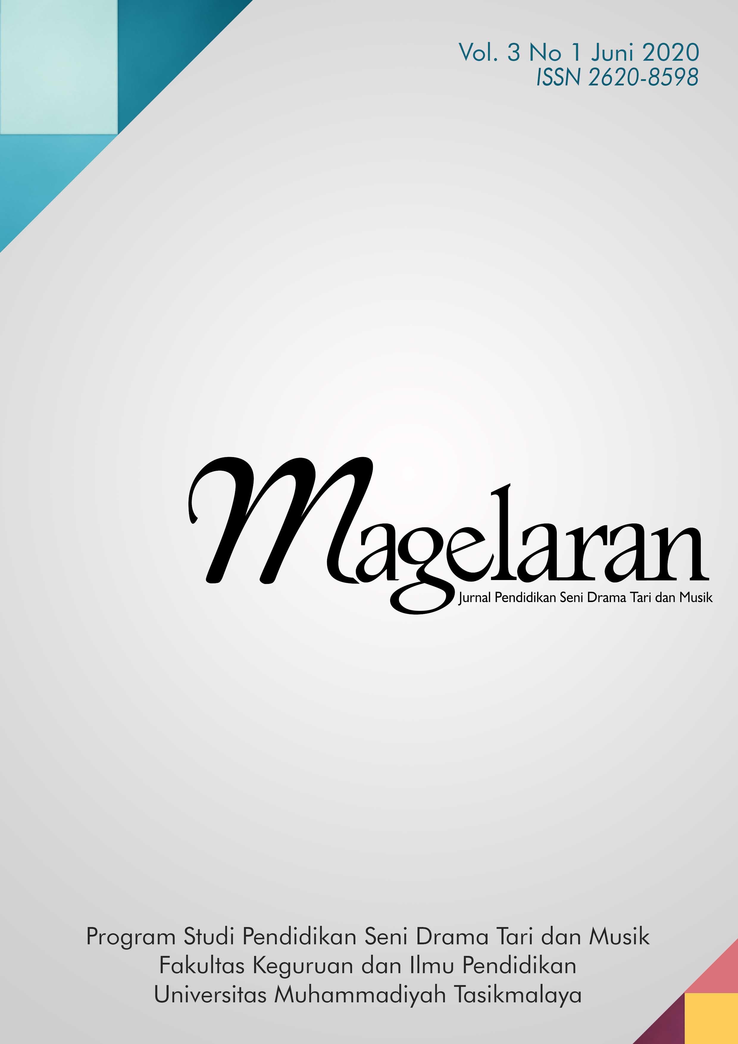View Vol. 3 No. 1` (2020): Magelaran: Jurnal Pendidikan Seni Vol.3, No. 1, Juni 2020